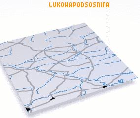 3d view of Łukowa Podsośnina
