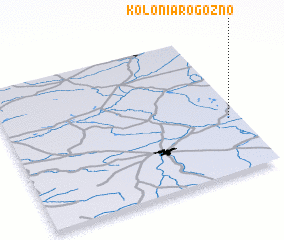 3d view of Kolonia Rogoźno