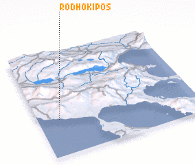 3d view of Rodhókipos