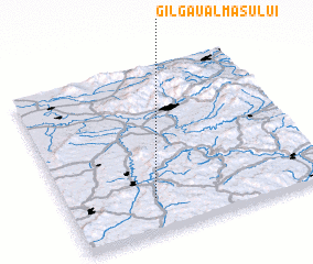 3d view of Gîlgău Almaşului