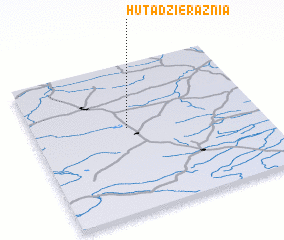3d view of Huta Dzierążnia