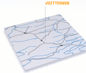 3d view of Justynówka