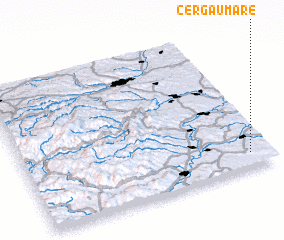 3d view of Cergău Mare