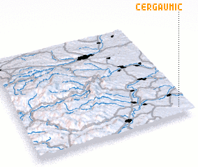 3d view of Cergău Mic