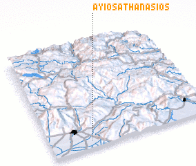 3d view of Áyios Athanásios