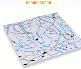 3d view of Podu Pescenii