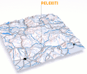 3d view of Pelekití