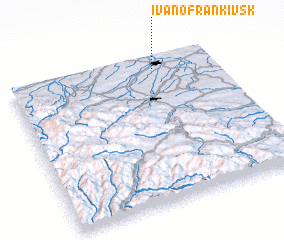 3d view of Ivano-Frankivs'k