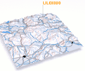 3d view of Lilekovo
