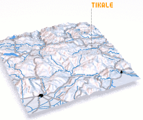 3d view of Tikale