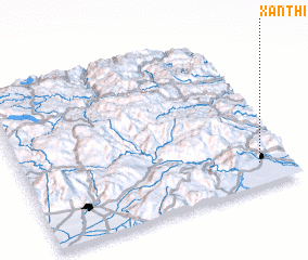 3d view of Xánthi