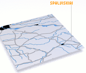 3d view of Spalviškiai