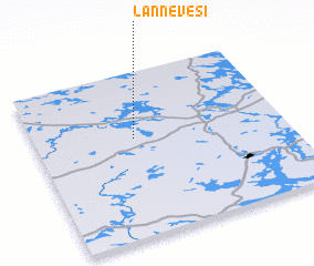 3d view of Lannevesi