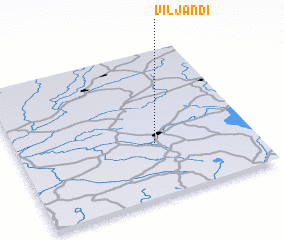 3d view of Viljandi