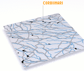 3d view of Corbii Mari