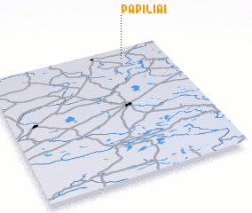 3d view of Papiliai