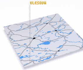 3d view of Klešova