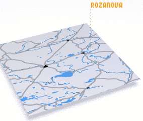 3d view of Rožanova