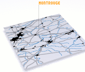 3d view of Mont Rouge