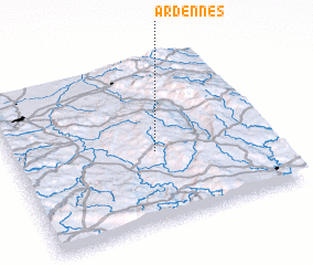 3d view of Ardennes