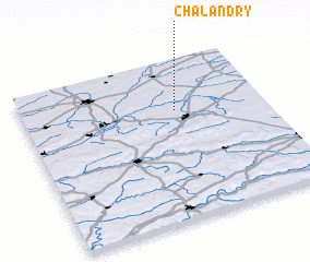 3d view of Chalandry
