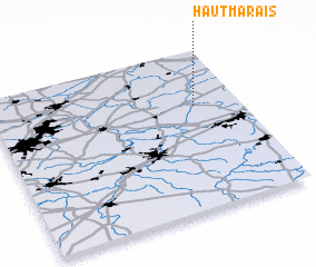 3d view of Haut Marais