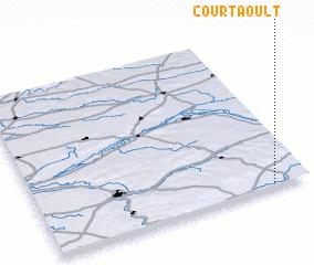 3d view of Courtaoult