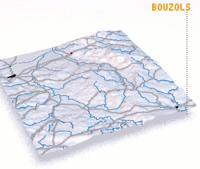 3d view of Bouzols