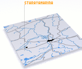 3d view of Staraya Mar\