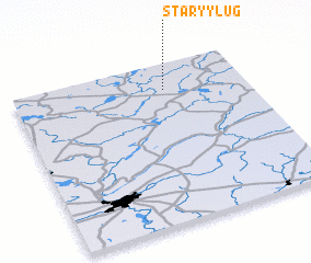 3d view of Staryy Lug