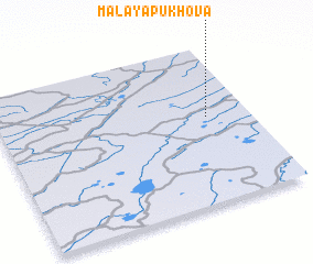 3d view of Malaya Pukhova
