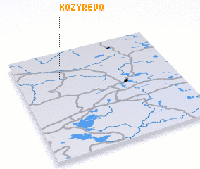 3d view of Kozyrëvo