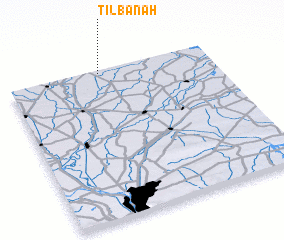 3d view of Tilbānah