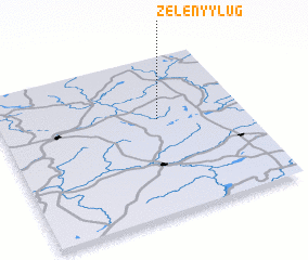3d view of Zelënyy Lug