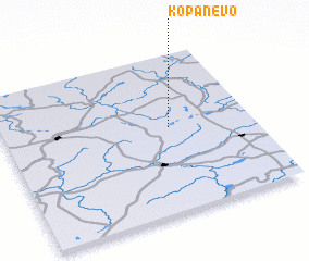 3d view of Kopanëvo