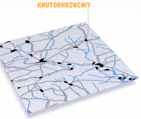 3d view of Khutor Kozachiy