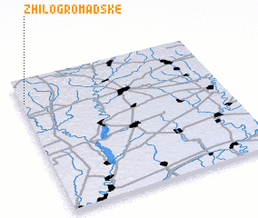 3d view of Zhilo-Gromadske