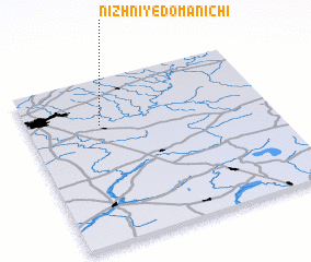 3d view of Nizhniye Domanichi
