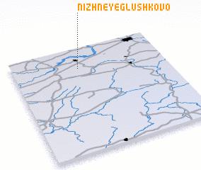 3d view of Nizhneye Glushkovo