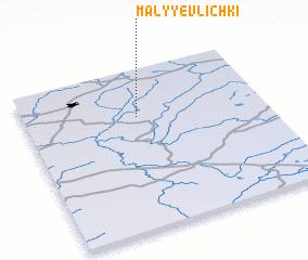 3d view of Malyye Vlichki