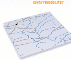 3d view of Mokryye Gogolitsy