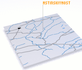 3d view of Mstinskiy Most