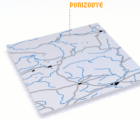 3d view of Ponizov\