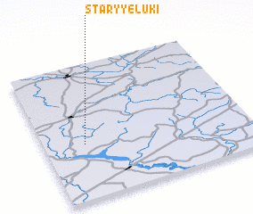 3d view of Staryye Luki