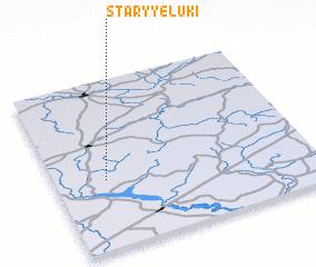 3d view of Staryye Luki