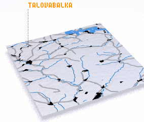 3d view of Talova Balka