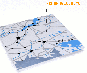 3d view of Arkhangel'skoye