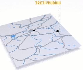 3d view of Tretiy Rudnik