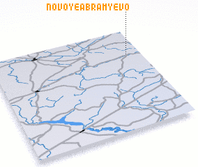 3d view of Novoye Abram\