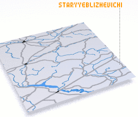 3d view of Staryye Blizhevichi